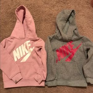 2 Toddler girls NIke hoodies